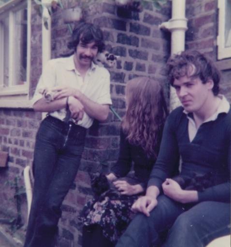 My backyard, Dorothy, Mark, Me