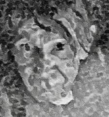 Me - pointillism, sketch